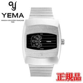 【豪華ノベルティ進呈】 正規品 YEMA イエマ ディジディスク ブラック 自動巻き 腕時計 送料無料 YDGD2020-AM ラッピング無料