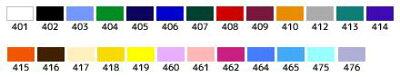 ラバーシート各種カラー番号