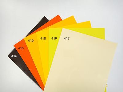 416ブラウン/415オレンジ/410イエロー/418ミディアムイエロー/419レモンイエロー/417ベージュ