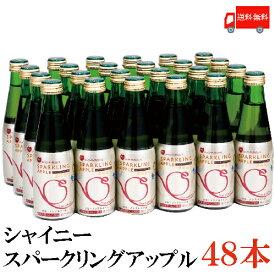 送料無料 シャイニー スパークリングアップル 200ml瓶×2箱【48本】 青森県産 りんごジュース
