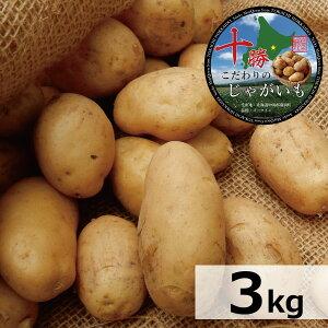 北海道産 じゃがいも 十勝産 メークイン R3年産 M/特M/L/2L/3Lサイズ混合 3kg 送料無料 メイクイーン/ジャガイモ/じゃが芋/ジャガ芋/ばれいしょ/馬鈴薯/バレイショ/正規品