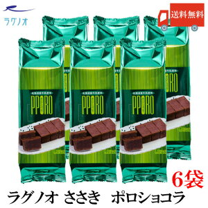 送料無料 ラグノオ ポロショコラ 6本 (ガトーショコラ チョコケーキ ショコラ スイーツ)