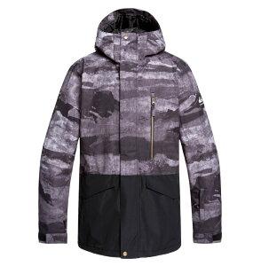 セール SALE Quiksilver クイックシルバー 10K MISSION PRINTED BLOCK JK NP modern fit スキー スノボー ジャケット アウター ウェア ウィンタースポーツ【Mens】