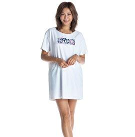 セール SALE ROXY ロキシー ラッシュ Tシャツ UVカット LEAF WAVE ROXY TEE プルオーバー ラッシュガード【Womens】