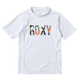 アウトレット価格 ROXY ロキシー ラッシュガード UVカット (100-150cm) MINI BOTANICAL LOGO S/S プルオーバー ラッシュガード【Kids】