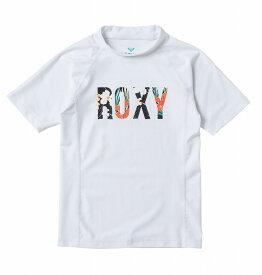ロキシー ROXY  ラッシュガード UVカット (100-150cm) MINI BOTANICAL LOGO S/S Kids Pullover Rash Guard 【TLY201106 WHT】