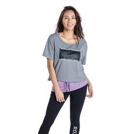 セール SALE ROXY ロキシー フィットネス 速乾 UVカット Tシャツ & カップ付きキャミ セット MOTIVATE YOURSELF トップス その他 トレーニング ヨガ スポーツウェア【Womens】