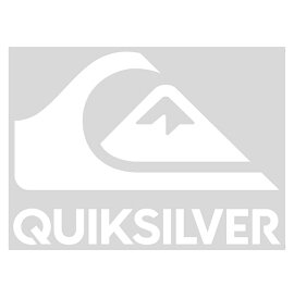 【QUIKSILVER クイックシルバー】ロゴ 転写ステッカー 【QOA165310 WHT】