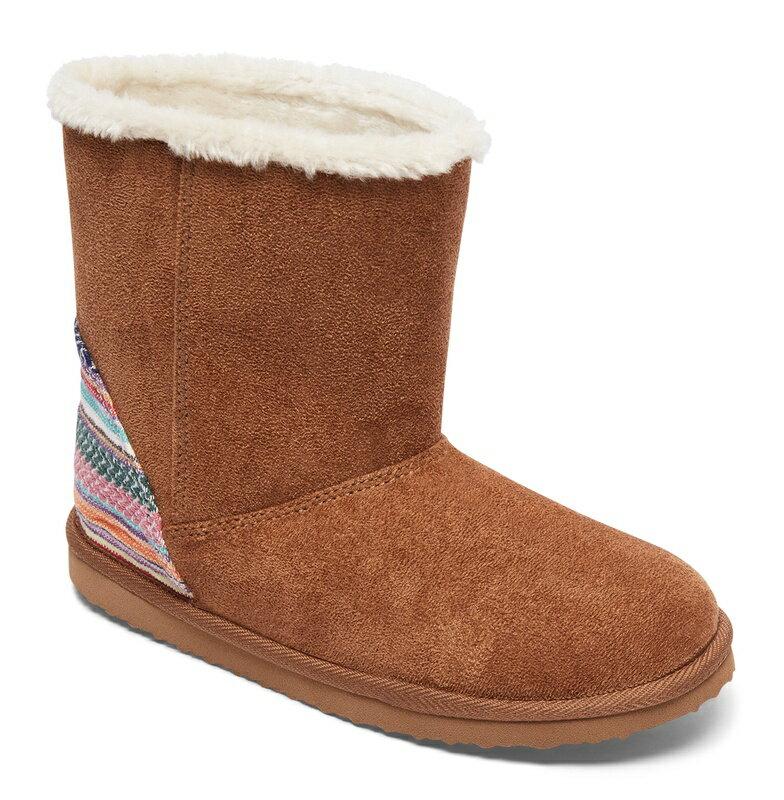 アウトレット価格 ROXY ロキシー ガール フェイクムートンブーツ (17-22CM) ブーツ 靴
