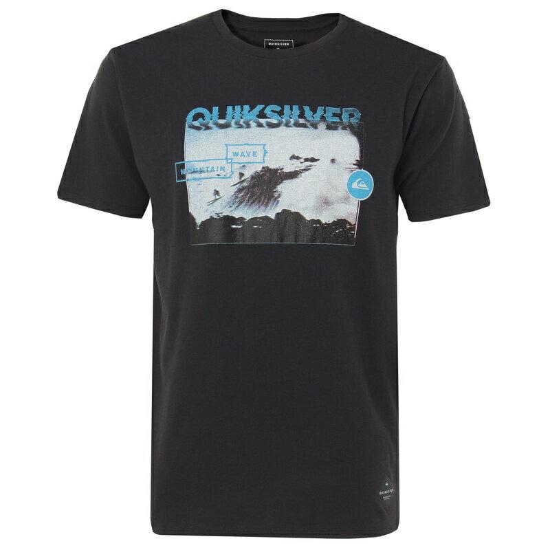 アウトレット価格 Quiksilver クイックシルバー メンズ / 吸汗速乾 ロゴTシャツ BLACK HORIZON TECH ST Tシャツ ティーシャツ