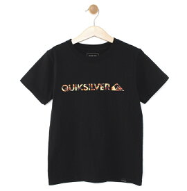 クイックシルバー QUIKSILVER  キッズ Tシャツ DF M&W ISLAND ST KIDS (100-160) T-shirts 【KST191112 BLK1】