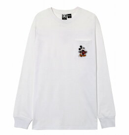 ディーシーシューズ DC SHOES  Tシャツ 長袖 クルーネック ディズニーミッキー19 MICKEY HAS BOARD POCKET LS T-shirts 【5425J935 WHT】