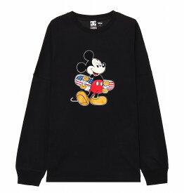 ディーシーシューズ DC SHOES  Tシャツ 長袖 クルーネック ディズニーミッキー19 MICKEY PRINT LS T-shirts 【5425J936 BK1】