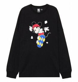 ディーシーシューズ DC SHOES  Tシャツ 長袖 クルーネック ディズニーミッキー19 MICKEY PRINT LS T-shirts 【5425J936 BK2】