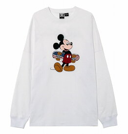 ディーシーシューズ DC SHOES  Tシャツ 長袖 クルーネック ディズニーミッキー19 MICKEY PRINT LS T-shirts 【5425J936 WHT1】