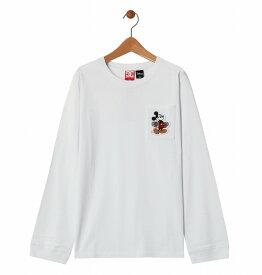 アウトレット価格 DC ディーシー シューズ アウトレット価格 DC ディーシー シューズ キッズ Tシャツ 長袖 ミッキー ディズニー ポケット クルーネック19 KD MICKEY HAS BOARD POCKET LS Tシャツ ティーシャツ Tシャツ ティーシャツ
