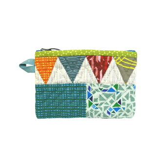 Pouch with Triangle and Square