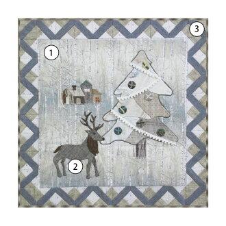 Midnight Christmas 3  | Quilt Party original kit, Christmas tapestry, Yoko Saito