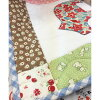 Baby Quilt made from Retro Print Fabric |  patchwork quilt, Yoko Saito, handmade baby quilt, handicrafts, cotton fabric, sewing