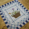 Tulip Mini Tapestry 2 | Quilt Party's original kit, patchwork quilt, Yoko Saito