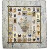 Free Basket Tapestry 1 |  Quilt Party's original kit, patchwork, quilt, Yoko Saito