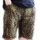 【ZULU】ROCK 豹柄 ショートパンツ ヒョウ柄 レオパード ショートパンツ メンズ 短パン ハーフパンツ ロック フェス 野外 ラッピング無料