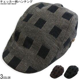 チェッカー柄 ハンチング メンズ キャップ CAP HAT 帽子 鳥打帽 ベレー帽 春 夏 秋 冬