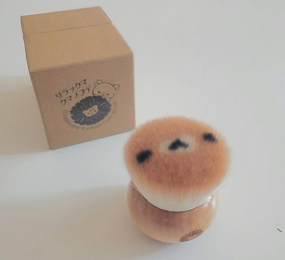 リラックマクマノフデ 熊野筆 リラックマフェイスフェイスブラシ ギフト お祝い ホワイトデー 母の日