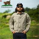 【8〜9月入荷予定】TCB jeans TCBジーンズ Two Cat's Blouse Logwood Brown ブラウス ログウッドブラウンメンズ アメ…