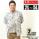 シャツ 大きいサイズ メンズ 半袖シャツ 麻シャツ リネンシャツ ワイシャツ 半袖 Yシャツ ボタンダウンシャツ ホワイト 夏 夏服 夏物 2L 3L 4L 5L XL XXL XXXL XXXXL 大きい ビックサイズ イワショー チャビ男 チャビー