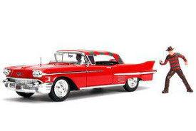 1/24 JADA TOYS ジャダトイズ エルム街の悪夢 Freddy Krueger & 1958 Cadillac Series 62 キャディラック ミニカー アメ車