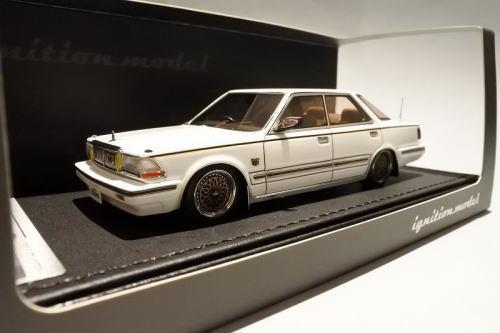 1/43 イグニッションモデル ignition model Nissan Cedric Y30 4Door Hardtop Brougham VIP White 日産 セドリック 4ドア ハードトップ ミニカー