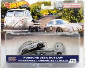 1/64 ホットウィール Hot Wheels Porsche 356A Outlaw Volkswagen TransporterT1 Pickup ポルシェ フォルクスワーゲン トランスポーター ピックアップ ミニカー