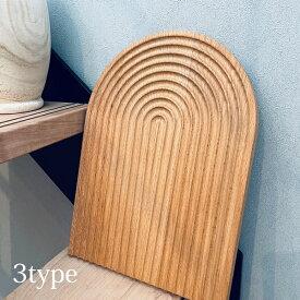 【10%OFFクーポン有】【3タイプ 】ウッドトレイ Wave カフェトレイ 撮影 お部屋 リラックス 木製プレート ディスプレイ まな板 Rainbow 北欧 韓国雑貨
