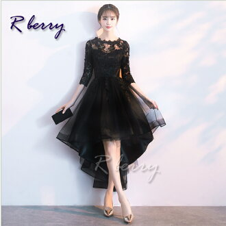 A medium mi-mollet length party dress formal dress second party black beige navy dark blue class reunion coming-of-age ceremony graduation ceremony entrance ceremony entering a kindergarten type invite brei maid is lovely mature for 40 generations in 30s
