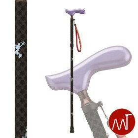 杖折りたたみミッキー&ミニー折りたたみ式杖愛杖ブラックMK-14