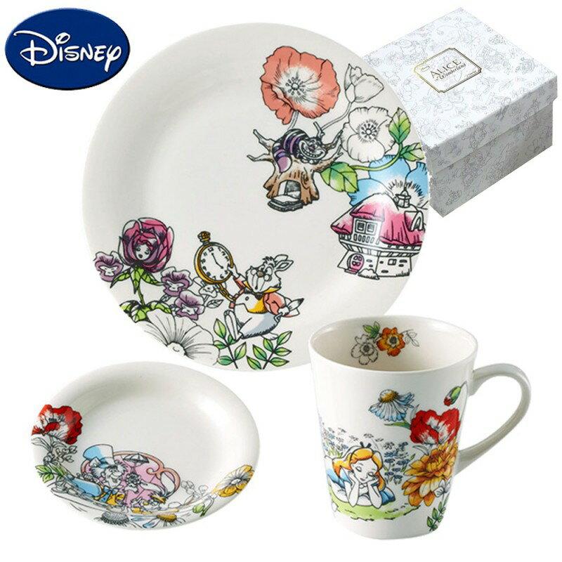 ★ポイント10倍★ ディズニー 不思議の国のアリス 食器セット マグカップ 皿 モーニングセット 46198