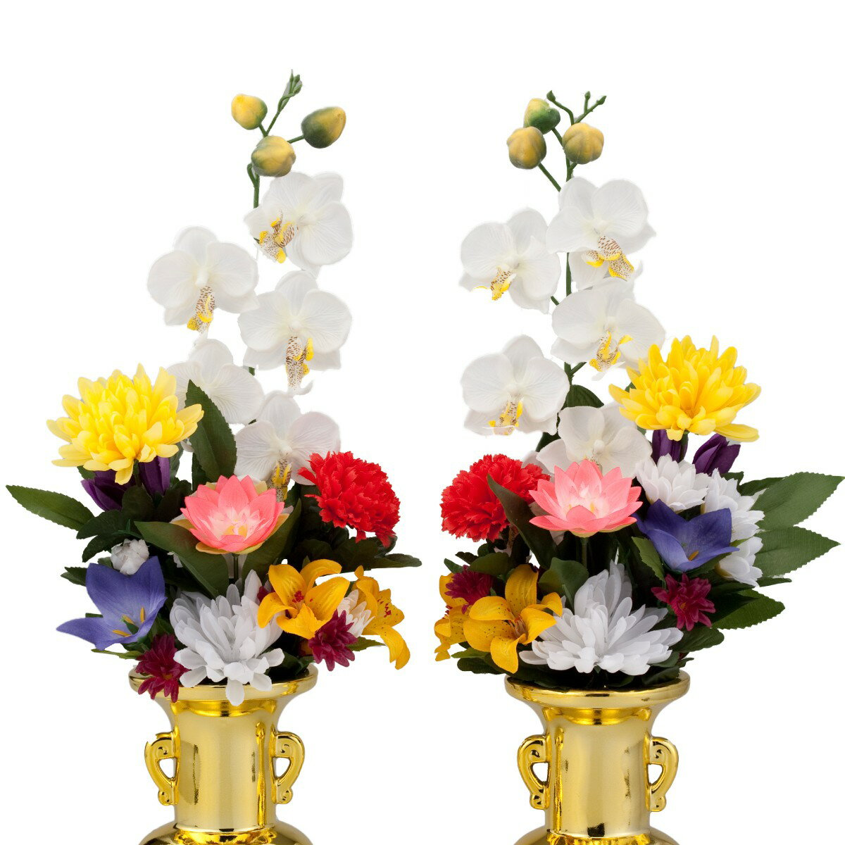 仏花 枯れない 造花「まごころ」 一対(胡蝶蘭付) 1288 アイデア 便利