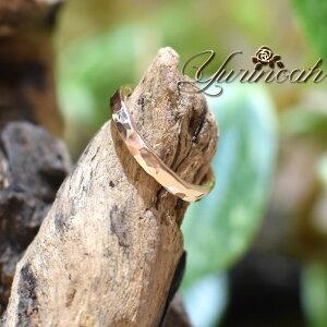 14KGF■2.6mm hammered ring【オーダーメイド】