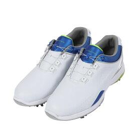 ティゴラ ヒールダイヤル ゴルフシューズ (TR-0S1019) メンズ ゴルフ ダイヤル式スパイクシューズ 3E ホワイト×ブルー TIGORA