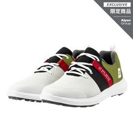 フットジョイ ゴルフシューズ ゴルフ5限定カラー FLEX AP SMU (56124) メンズ ゴルフ シューレース式スパイクレスシューズ 3E ホワイト×グリーン FOOT JOY FJ