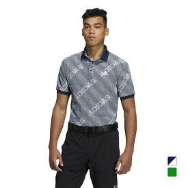 アディダス ゴルフウェア 半袖シャツ ジオメトリックプリント ポロ (23087) メンズ adidas