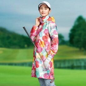 ティゴラ レディース ゴルフ レインウェア ソフトタッチレイン ワンピースタイプ 水玉柄 TR-1R2200OP ピンク TIGORA