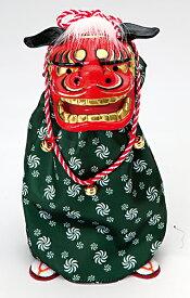 《 正月 装飾 》Parer/パレ *踊る獅子舞M グリーン 新年 インテリア