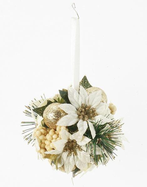 《 クリスマス 造花 ポインセチア 》Asca/アスカ ポインセチアキッシングボール インテリア