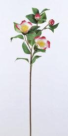 《 造花 》Asca/アスカ 椿 ホワイトレッド和 ツバキ カメリア