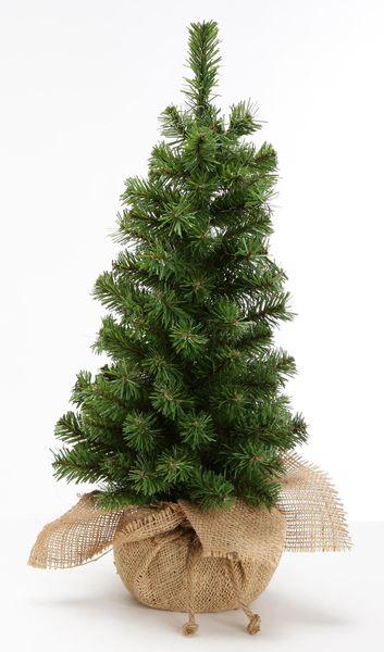 《 クリスマス ツリー 小さい 》花びし/ハナビシ バーラップツリー(大) グリーン造花 もみの木