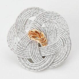 《 正月 装飾 》Parer/パレ 水引平梅 銀 (1セット6個入り) 新年 インテリア