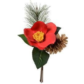 《 造花 》Parer/パレ 迎春椿ピック レッド 和 ツバキ カメリア
