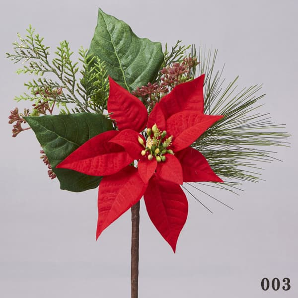 《 クリスマス 造花 ポインセチア 》花びし/ハナビシ ミックスポインピック レッドインテリア ディスプレイ